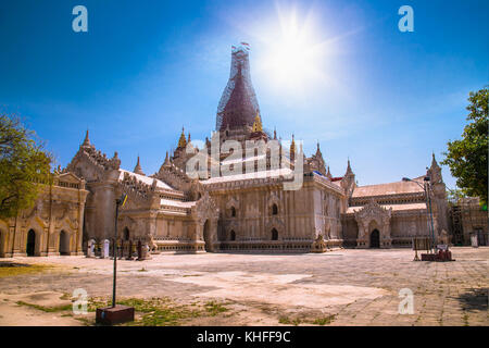 Ananda temple in Old Bagan, Myanmar. (Burma) - Stock Photo