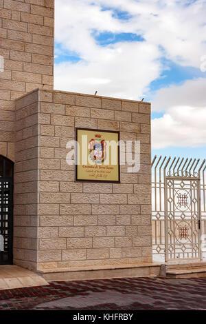 Custody of Holy land sign - Stock Photo