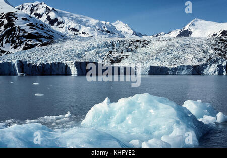 One of the most visited attractions in Alaska, USA, is Portage Glacier located in Chugach National Forest about - Stock Photo