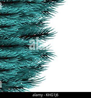 christmas fluffy tree template stock vector art illustration