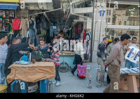 Shopping district of Amman, Jordan, Middle East - Stock Photo