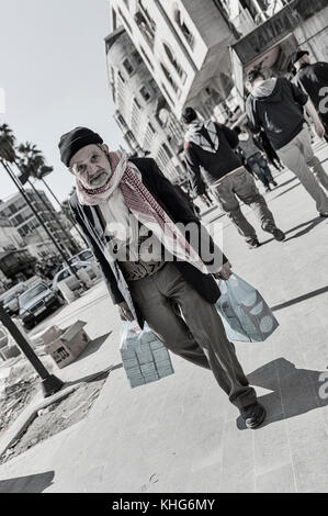 Elderly man in Amman, Jordan, Middle East - Stock Photo