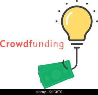 crowd funding concept icon vector illustration design stock vector