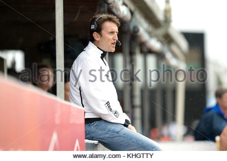 Auckland, New Zealand. 18th Nov, 2017. The German head coach Xavier Reckinger before the start of the women's hockey - Stock Photo