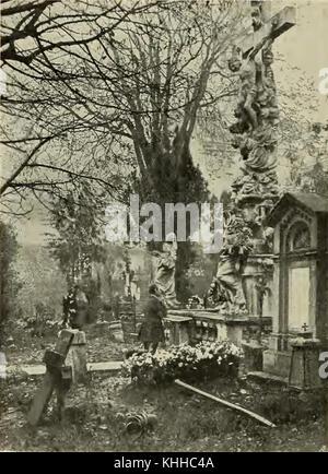 S 362 Abb 365 Partie aus dem W%%%%C3%%%%A4hringer Friedhofe - Stock Photo