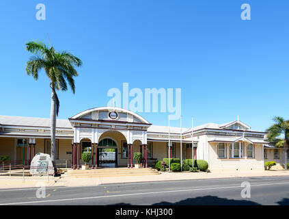 Heritage-listed Railway Station built in 1900 in Emerald, Central Queensland, QLD, Australia