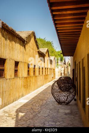Streets of Al Fahidi Historical Neighborhood in the Dubai's Old Town - Stock Photo
