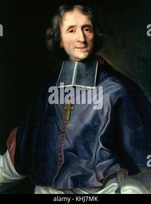 Joseph Vivien   Portrait of François de Salignac de la Mothe Fénelon bishop of Cambrai 1713 - Stock Photo