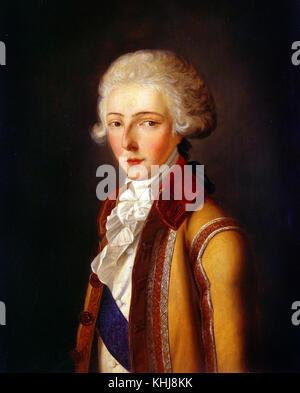 Charles Rauch -  Portrait of Louis Antoine Henri de Bourbon duke of Enghien  19th century - Stock Photo