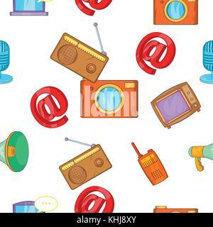 Headline pattern, cartoon style - Stock Photo