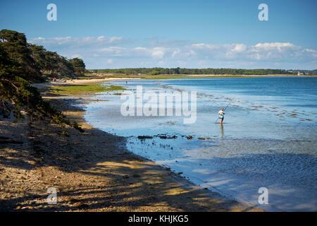 Pen Bron peninsula near Guerande in the Loire-Atlantic region of Brittany france. - Stock Photo