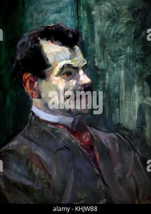 Portrait of André Rivoire 1901 Henri-Marie-Raymond de Toulouse-Lautrec Monfa dit Toulouse-Lautrec  1864 - 1901  - Stock Photo