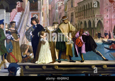Departure of the prodigal son - Return of the prodigal son 1863 James Tissot 1834-1902 France French - Stock Photo