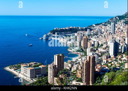 Europe. Principauté de Monaco (98). Monte-Carlo. Overlooking of Monte-Carlo - Stock Photo