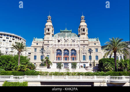 France. Principality of Monaco (98). Monaco. The Casino of Monte-Carlo. Rear view - Stock Photo