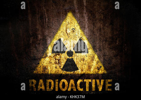 Radioactive Ionizing Radiation Danger Symbol With Yellow And Black
