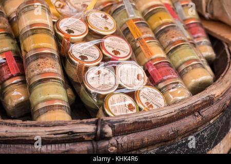 Local produce Dijon Cote-d'Or  Bourgogne-Franche-Comté France - Stock Photo