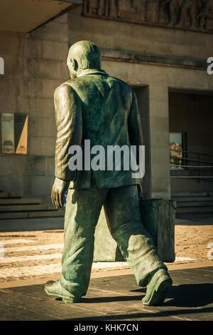 Statue in Vigo, Spain - Stock Photo