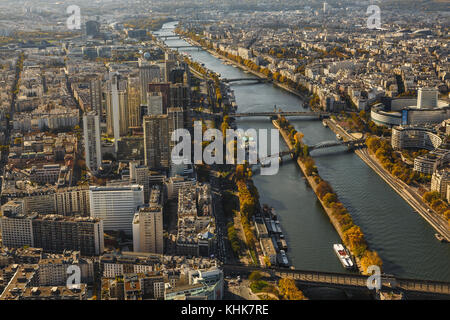 Paris,France,panorama from the Tour Eiffel - Stock Photo