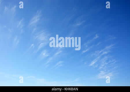 Daytime sky with stratus clouds as a backgrounds - Stock Photo