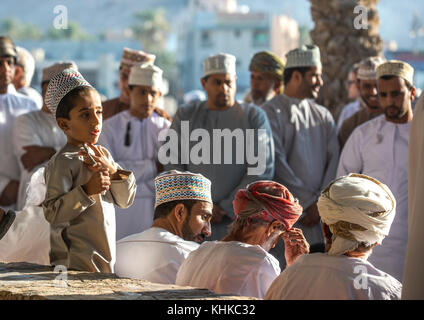 Nizwa, Oman, 10th Nobember 2017: omani young boy at a market - Stock Photo