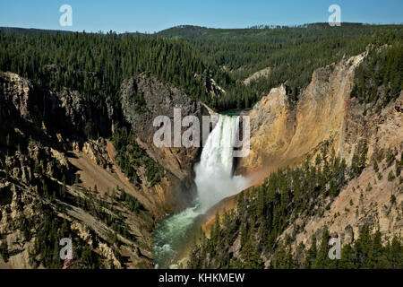 WY02632-00...WYOMING - Lower Falls from Lookout Point in the Grand Canyon of the Yellowstone at Yellowstone National - Stock Photo