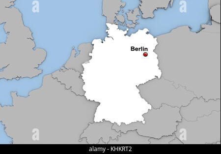 Map of germany highlighted in red on a globe 3d illustration stock abstract 3d render of map of germany highlighted in white color and location of the capital gumiabroncs Choice Image
