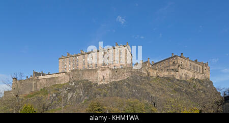 castle, Edinburgh, Scotland, Great Britain - Stock Photo