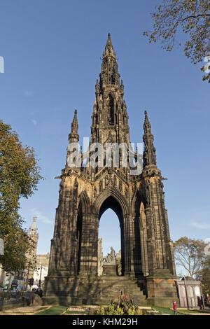 The Scott Monument, Edinburgh, Scotland, Great Britain - Stock Photo