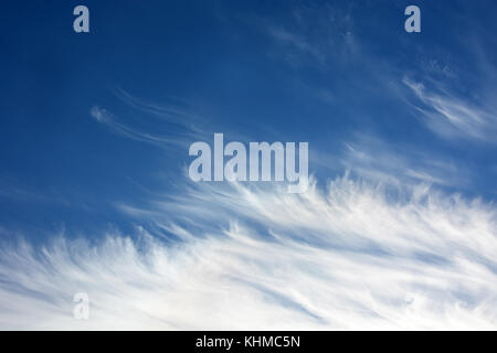 Daytime sky with stratus clouds - Stock Photo