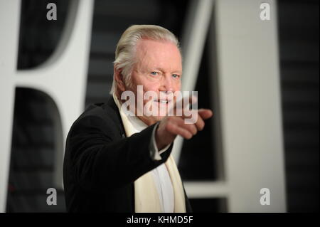 BEVERLY HILLS, CA - FEBRUARY 26: Jon Voight attends the 2017 Vanity Fair Oscar Party hosted by Graydon Carter at - Stock Photo