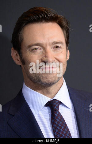 NEW YORK, NY - FEBRUARY 25:  Hugh Jackman  attends the 'Logan' New York screening at Rose Theater, Jazz at Lincoln - Stock Photo