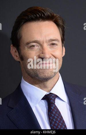 NEW YORK, NY - FEBRUARY 25:  Hugh Jackman  attends the 'Logan' New York screening at Rose Theater, Jazz at Lincoln - Stock Photo