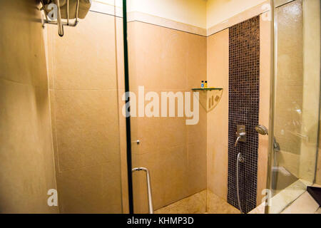 Modern luxury shower booth - Stock Photo
