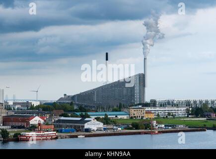 Amager power station and ski slope in Copenhagen in Denmark - Stock Photo