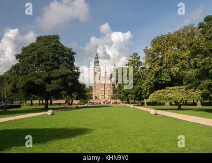 Rosenborg Castle Garden Copenhagen in Denmark - Stock Photo