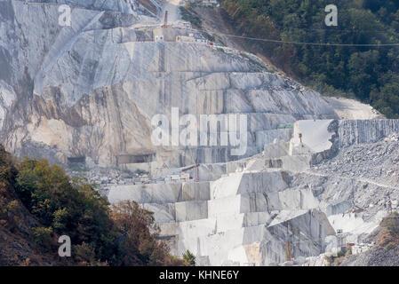 Marble quarry, Colonnata, Carrara, Tuscany, Italy Stock Photo