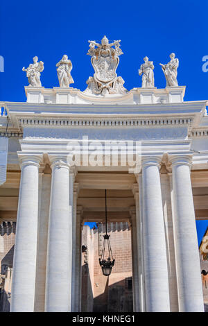 Architectural detail in Saint Peter Square in Vatican, Rome,Italy - Stock Photo