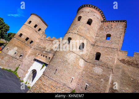 The Porta Asinaria,Roma,Italy, a gate in the Aurelian Walls of Rome - Stock Photo