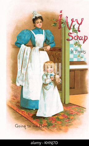 19th century magazine insert advertisement for Ivy Soap. - Stock Photo