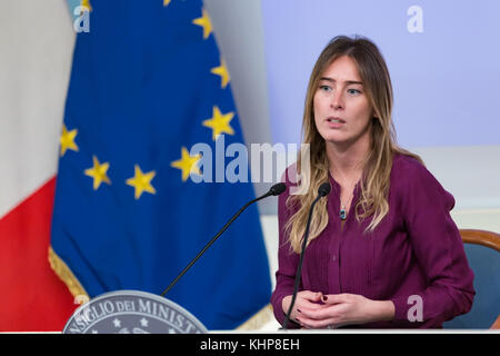 Rome,17 November 2017. Maria Elena Boschi during the Presentation of the Campaign for the National Violence against - Stock Photo