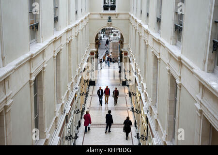 Passage Pommeraye and its shops, Nantes, Loire Atlantique, France. Shopping arcade from the 19th century Nantes - Stock Photo