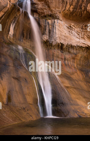 Lower Calf Creek Falls, Grand Staircase - Escalante National Monument, Utah. - Stock Photo
