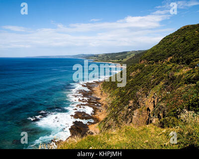 Great Ocean road close to Apollo Bay - Stock Photo