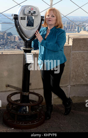 Lesley Nicol attends the 'Downton Abbey: The Exhibition' photocall on the Empire State Bulding on November 17 in - Stock Photo