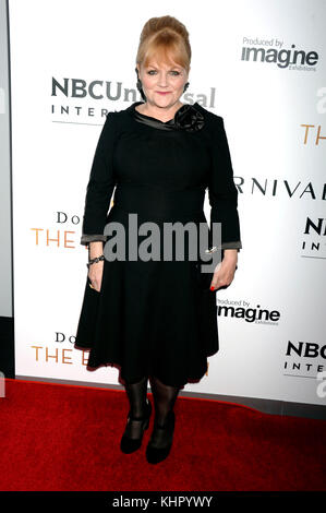 Lesley Nicol attends the 'Donwton Abbey: The Exhibition' opening at 218 West 57th Street on November 17, 2017 in - Stock Photo