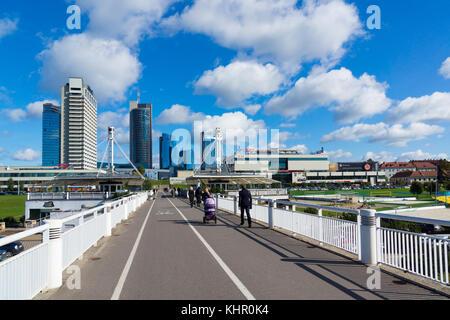 New modern skyscrapers in Vilnius - Stock Photo