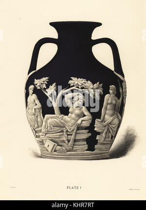 The Portland Vase Or Barberini Vase Chromolithograph Drawn By Stock