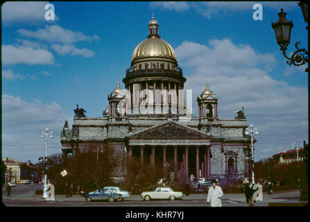 St. Isaac's Cathedral, Leningrad (St. Petersburg), U.S.S.R., 1958 - Stock Photo