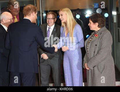 Photo Must Be Credited ©Alpha Press 079965 13/11/2017 Prince Harry Stephen Fry Fearne Cotton Virgin Money Giving - Stock Photo